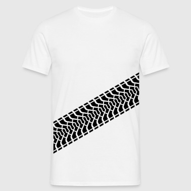Tire footprint, tire gauge, tire tread (Diagonal) - Men's T-Shirt
