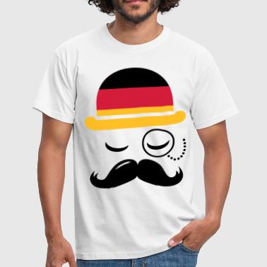 Germany nation fashionable retro iconic gentleman with flag and Moustache olympics sports football  - Koszulka męska