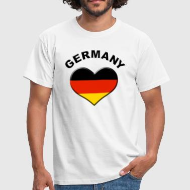 Heart for Germany - Männer T-Shirt