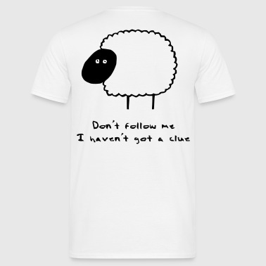 Sheep Clue - Men's T-Shirt