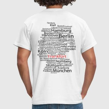 Frankfurt am Main wordcloud - Männer T-Shirt