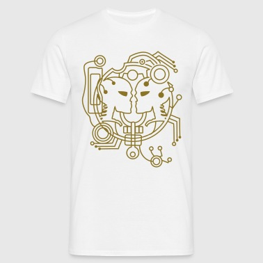 cyber love cyber Skull - Men's T-Shirt