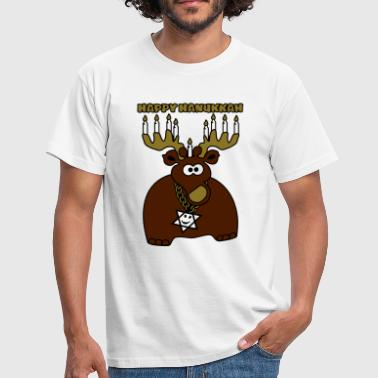 hanukkah moose-deer - Men's T-Shirt