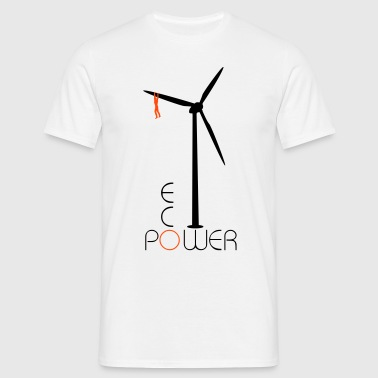 Windrad Eco Power - Männer T-Shirt