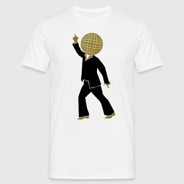 Dancer with disco ball as the head 2  - Men's T-Shirt