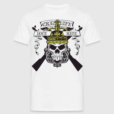 Skull love hate - T-shirt Homme