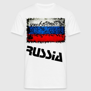 Russian Graffiti Flagge 2 - Männer T-Shirt