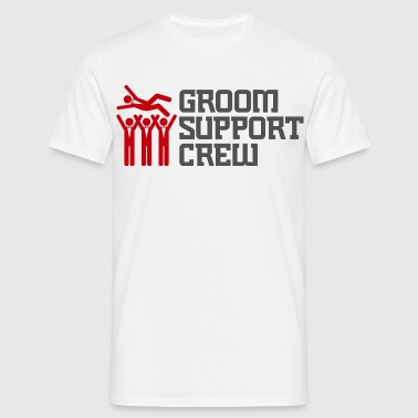 Support Team of the Groom - Men's T-Shirt