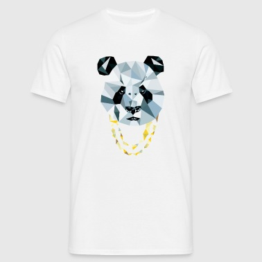 Panda 3D Polygon - Comic - Männer T-Shirt