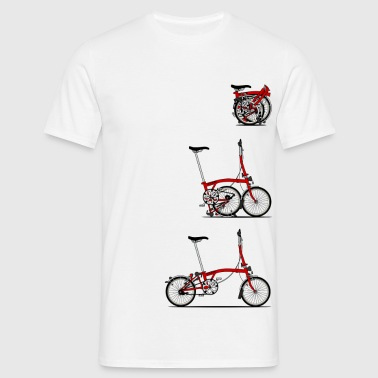 I Love My Folding Brompton Bike - Men's T-Shirt