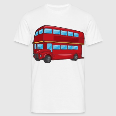 Red Double Decker Bus - Men's T-Shirt