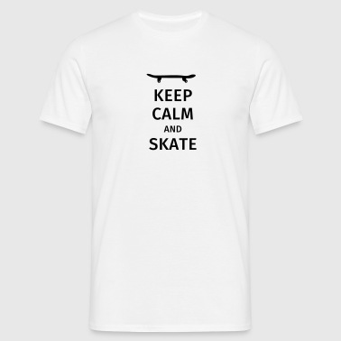 keep calm and skate - Men's T-Shirt