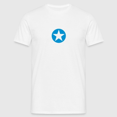 star single blackcircle single - Mannen T-shirt