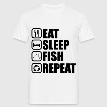 Eat sleep fish - fishing, fishing - Men's T-Shirt