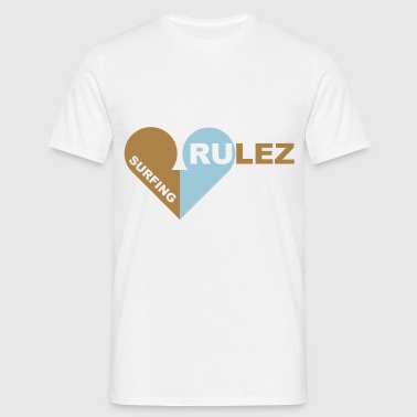 surfing rulez 2-farbig - Men's T-Shirt