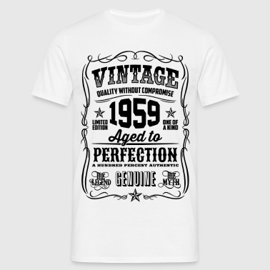 Vintage 1959 Aged to Perfection black - Men's T-Shirt