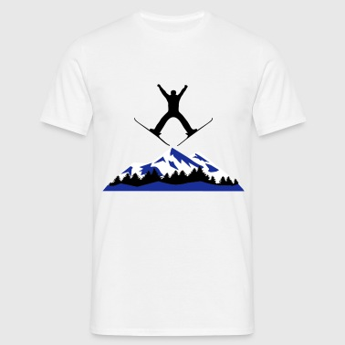 ski and mountain, ski jumping - Men's T-Shirt