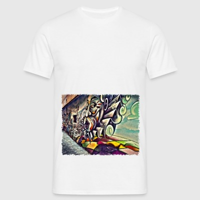 Street Art Gap - Mannen T-shirt