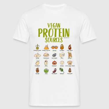 Vegan protein t-shirt for Vegans and Vegetarians - Men's T-Shirt
