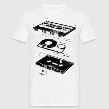 Compact Cassette- Tape - Music - 80s - Camiseta hombre