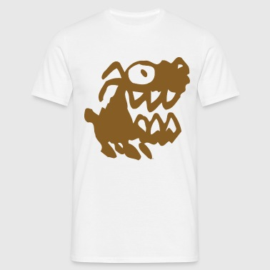 Bow Wow! Brown Cartoon Dog by Cheerful Madness!! - Men's T-Shirt