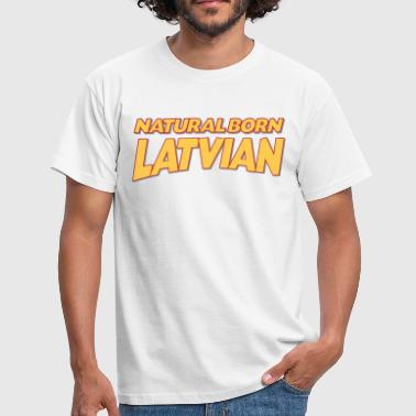 Natural born latvian 3col - Men's T-Shirt