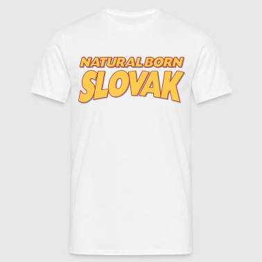 Natural born slovak 3col - Men's T-Shirt