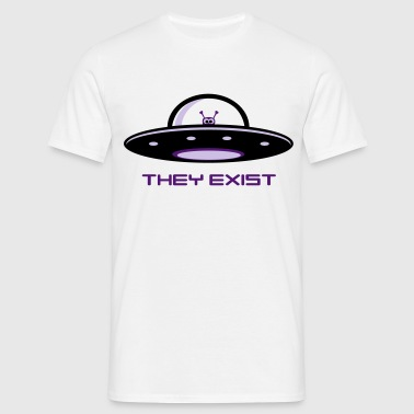 UFO Alien - they exist, Ner - Männer T-Shirt