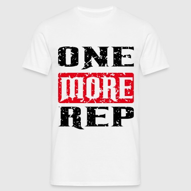 one more rep black red - Männer T-Shirt