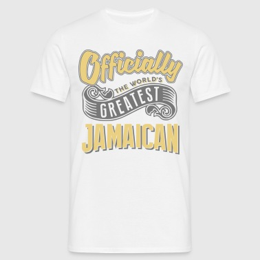 Officially the worlds greatest jamaican - Men's T-Shirt