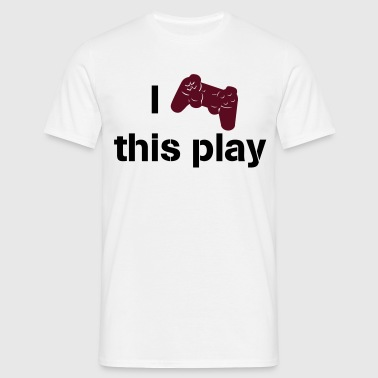 i love this play station - T-shirt Homme
