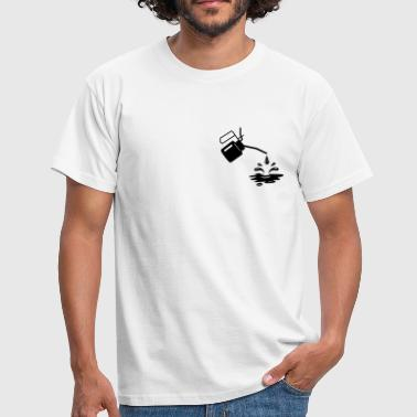 An oil can and oil drops  - Men's T-Shirt
