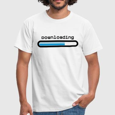 downloading - Men's T-Shirt