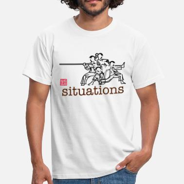 Wooden Dummy female woman situations - Männer T-Shirt