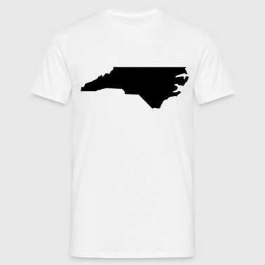 North Carolina // USA // Land Karte // Landkarte - Männer T-Shirt