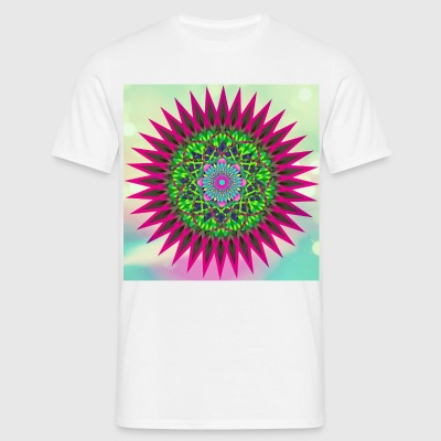 Mandala Flower - T-skjorte for menn