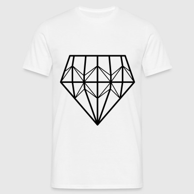 diamant - T-skjorte for menn