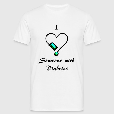 I Love Someone With Diabetes - Pump 1 - B/G - Men's T-Shirt