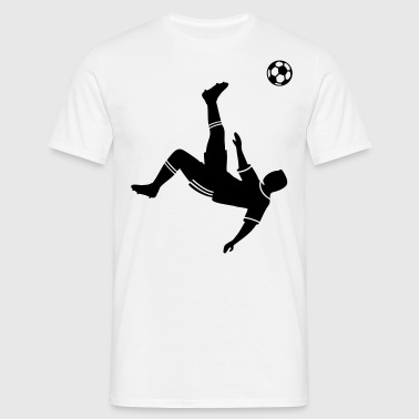 Bicycle kick voetbal voetballer   - Mannen T-shirt