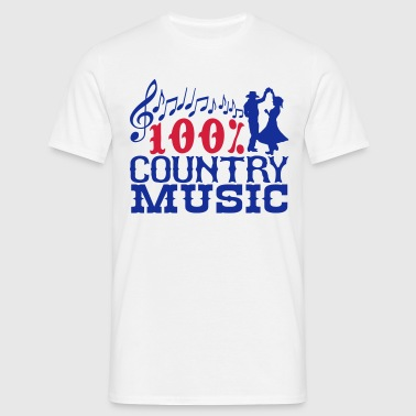 100% country music - Men's T-Shirt