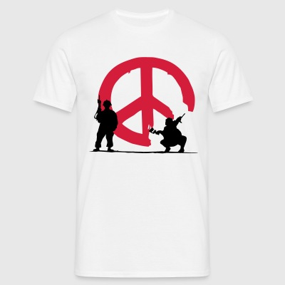 039 - peace not war - Männer T-Shirt