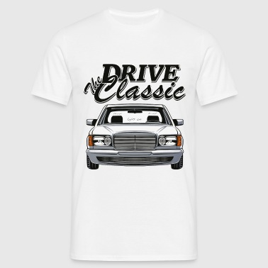Benz W126 Coupe Drive Classic - Mannen T-shirt
