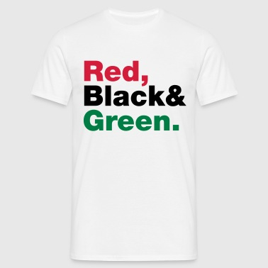 Red, Black & Green. - Men's T-Shirt