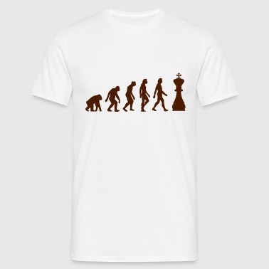 De evolutie van Chess - Mannen T-shirt