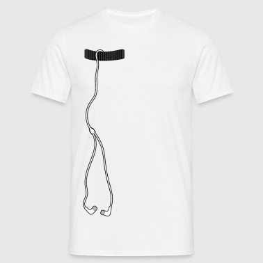 Earpieces with pocket - Men's T-Shirt