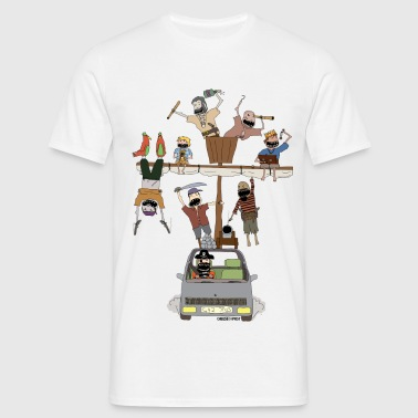 pirate ship car - Men's T-Shirt