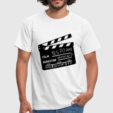 70 ans clap cinema - T-shirt Homme