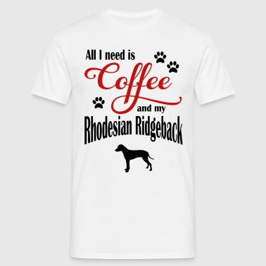 Rhodesian Ridgeback Coffee - Men's T-Shirt