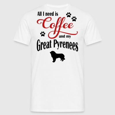 Great Pyrenees Coffee - Men's T-Shirt