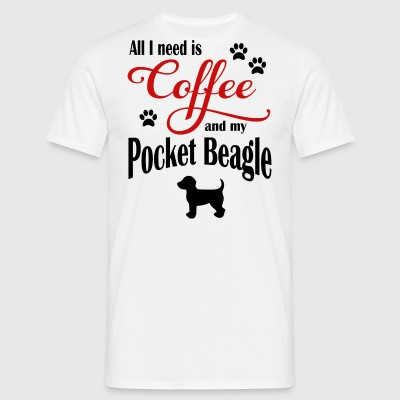 Pocket Beagle Coffee - T-shirt herr